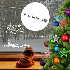Christmas Santa Claus is Coming 2 Town Decal Sticker Shop Window Wall Decoration