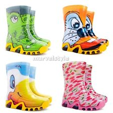 BABY BOYS & GIRLS WELLINGTON BOOTS WELLIES RAINY BOOTS UK size 3-11 / EUR 20-29