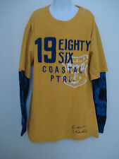 GAP KIDS BOYS YELLOW AND BLUE LONG SLEEVE SHIRT SIZE XL (12) NWT