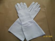 WHITE MEDIEVAL GAUNTLET DEERSKIN GLOVES