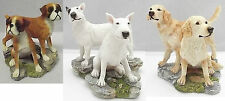 Solid Resin Hand Crafted & Hand Painted Dog Figurines By Sherratt & Simpson