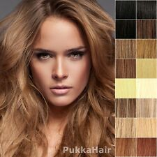 ♥ Clip In Full Head Human Hair Extensions 15,18,20,24 USA Australia Canada UK ♥