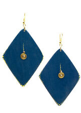 Maisha Big Light Weight Trendy Color Wood Earrings Fair Trade,HandPainted Africa