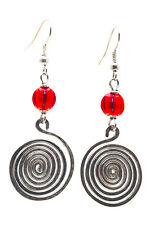Maisha Beautiful Silver Color Glass Bead Handmade FairTrade Earrings African