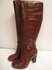 Marc Fisher Kevins Mid Calf Heel Boots Brown New with Box