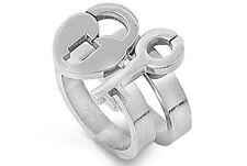 Key to My Heart Lock and Key Ring - Love Ring & Commitment Ring Promise Ring Set