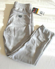 Wilson Men Drawstring Baseball Pants,Elastic Cuffs-Blue Gray or White,Sm