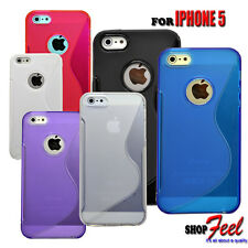 6 VARIES COLOUR SOFT RUBBER GEL MOBILE PHONE CASE COVER FOR APPLE IPHONE 5