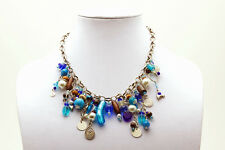 Maisha Trendy Chain Brilliant Blue Beaded Necklace FairTrade Handmade African