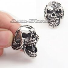 Men's Scary Skull Movable mouth Stainless Steel Biker Ring Size 8, 9,10,11,12,13
