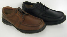 Mens Clarks Black and brown Leather lace up formal shoes LINE PATH