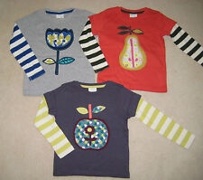 Mini Boden Retro Applique T Shirt Top 1.5 to 12 years apple pear flower