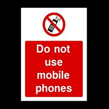 NO USE OF MOBILE PHONE SIGNS & STICKERS ALL SIZES! ALL MATERIALS FREE P+P (PG41)