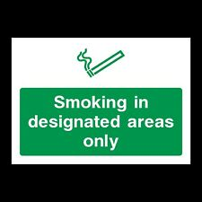 SMOKE IN DESIGNATED SIGNS & STICKERS ALL SIZES! ALL MATERIALS! FREE P+P (PS3)