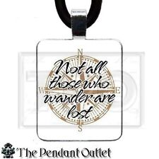 Lord of the Rings Hobbit Tolkien Quote LOTR Book Jewelry Charm Pendant Necklace