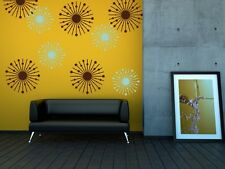 Atomic Starburst, College Dorm Decorations, Mid Century Modern Wall Decals