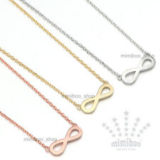 Matt Finishing Infinity Eternity Eternal Love Forever Pendant Gift Necklace 16""