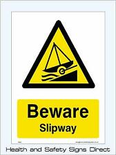 BEWARE SLIPWAY SIGN & STICKERS ALL SIZES! ALL MATERIALS! FREE P+P (WS23)