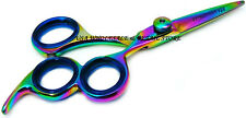 "7T3 5.5"" Titanium Hair Cutting Scissor Shears Professional Barber 3 Ring USA SEL"