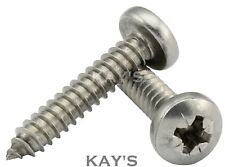 No.10 x 13,16,19,25,32,38,50mm Pozi Pan Self Tapping Screws, A2 Stainless Steel