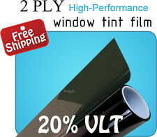"""Deluxe Window Tint Film 2 PLY 18"""" x 5ft to 500ft Roll 20% VLT Black Tinting"""