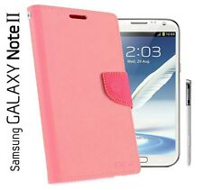 Samsung Galaxy Note 2 - Mercury Fancy Diary Wallet Cover Flip Case
