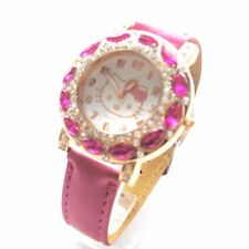 New High Quality  Ladies/Girls  Hello Kitty Cute Fashion Watch Leather Strap