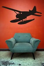 Wall Decal Seaplane Plane Airplane Transportation Flying Pilot Aircraft Hydropla