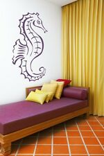 Seahorse Decal, Seahorse Wall Decal, Beach Decor, Beach Wall Art, Coastal Decor