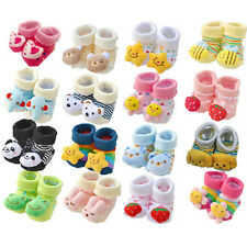 Cartoon Baby Girl Boy Anti-slip Socks Slipper Shoes Boots 0-6 Month XTY008