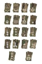 Pair Official Crye Multicam MTP Ivory Rank Slides  ( for Multi Terrain Pattern