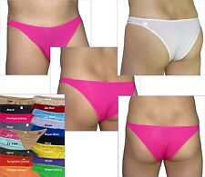 K132 Mens Sexy Micro Bikinis Mini Flat Front Soft Smooth Silky Tricot Knit