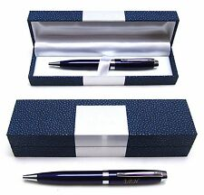 BLUE BALLPOINT PEN IN MOC CROC CASE Great Quality & Value Writing Desk Gift NEW