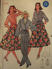 VTG 70s BUTTERICK 6195 Misses WRAP TOP~SKIRT~PANTS Pattern 8~10~12~16 All UC/FF