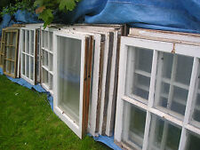 1 Antique Sash Window 2 Panes Old Farmhouse 1800 Beautiful WAVY Glass Choice