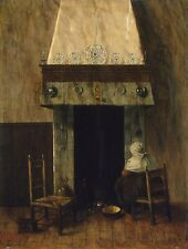 A4+ Size Print:Vrel Jacobus An Old Woman By A Fireplace #jwnh5055-1218