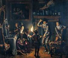 Photo Print Candle-Lit Interior Naiveu, Matthijs - in various sizes jwg-16436