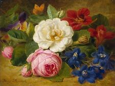 Photo Print: Launer Josef Bouquet Of Flowers With A Snail #jwnh2753