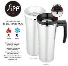 Thermos Sipp 16oz Stainless Steel Insulated Leak Proof Coffee Travel Mug NS100