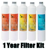 WATTS Kwik-Change Quick Change WQC4 RO One Year FILTER SET for Models WQC4-RO