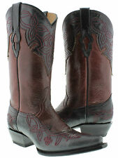 women's cowboy boots ladies leather floral stiched western biker rodeo hot sexy