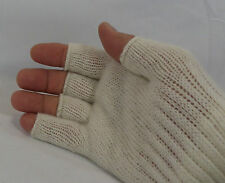 Unheardofdeal Women Super Soft Wool Solid Color Open Gloves Glomitts W39500