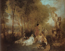Art Photo Print - La Fete D'Amour - Antoine Watteau 1684 1721