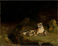 Art Photo Print - Tiger And Cubs - Gerome Jean Leon