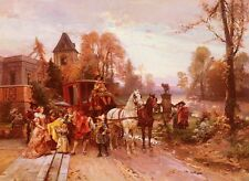 Photo/Poster - The Arrival Of The Baby - Cesare Auguste Detti 1847 1914