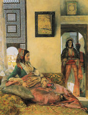 Photo/Poster - Life In The Hareem Cairo - John Frederick Lewis 1805 1876