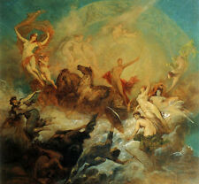 Art Print - Makart Victory Of Light Over Darkness - Hans Makart 1840 1884