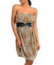 LEOPARD DRESS WITH BELT!!!!  KNEE LENGTH!  NWOT!!!  NEW WITHOUT TAGS!!