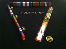WW2 1939-45 STAR + F & G STAR + DEFENCE + WAR MEDAL RIBBON BAR OAK LEAF OPTION