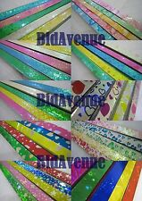 Origami Lucky Wishing Star Paper Strip Assorted Design Free Shipping (90II)